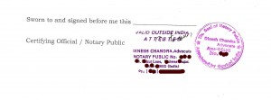 Attestation by a Notary Public in India